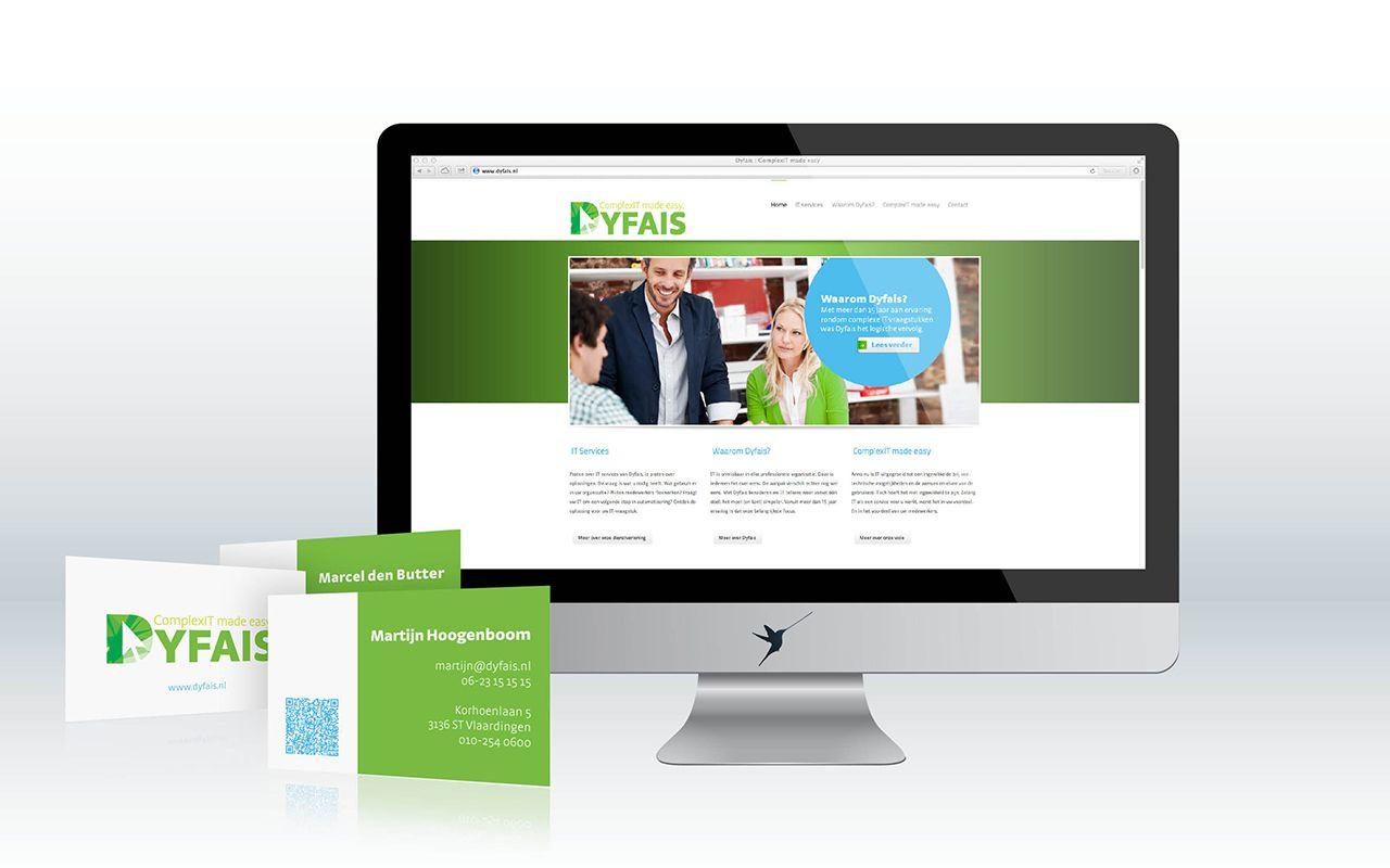 Huisstijlontwerp Dyfais website vcard